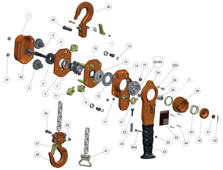 WH L5 Chain Block Spare Parts