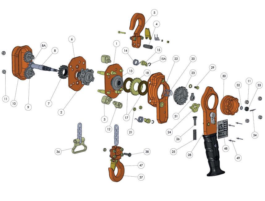 WH L4 Chain Block Spare Parts
