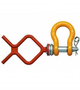 ROV Anchor Shackle with Fishtail handle and safety pin