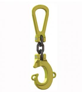 Grade 8 Single Leg Lifting Hook Location System (Blue Rope)