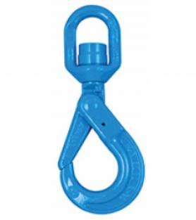 Yoke Grade 10 Swivel Self Locking Hook with Ball Bearing