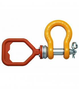 ROV Anchor Shackle with D-handle and safety pin